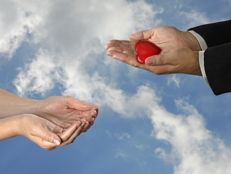 organ donation: Gift of heart Stock Photo