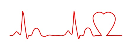 ekg: ECG graph with heart