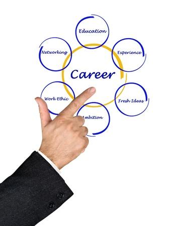 ethic: Diagram of career success