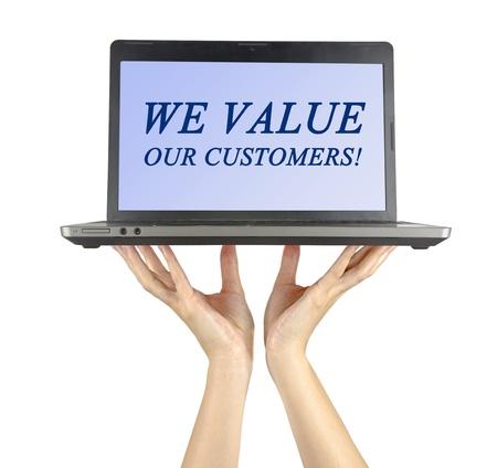 wartości: Cenimy naszych klientów