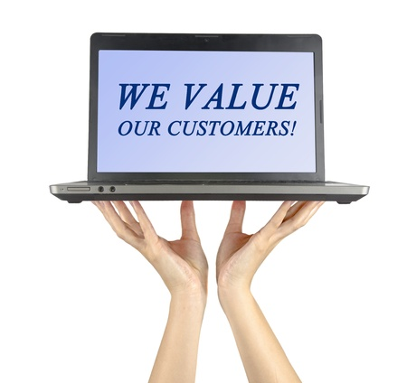 We value our customers Stock Photo - 14825657
