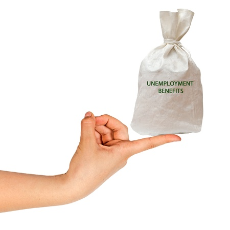 bag with unemployment benefits photo