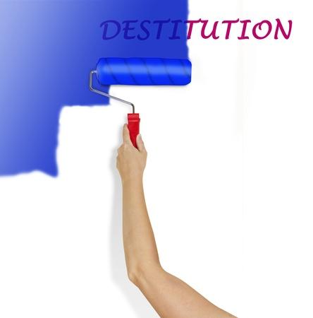 destitution: War on destitution Stock Photo