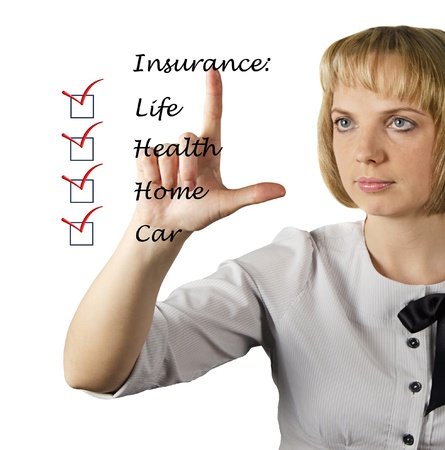 Insurance list Stock Photo - 15980951