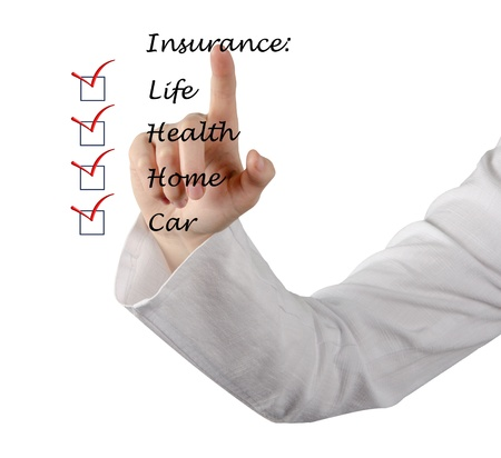 Insurance list Stock Photo - 14942028