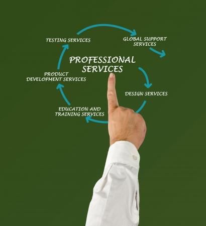 Schéma de services professionnels Banque d'images