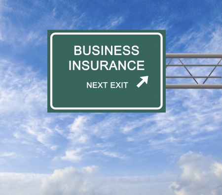 Road sign to business insurance photo