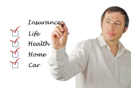 Insurance list Stock Photo - 15980957