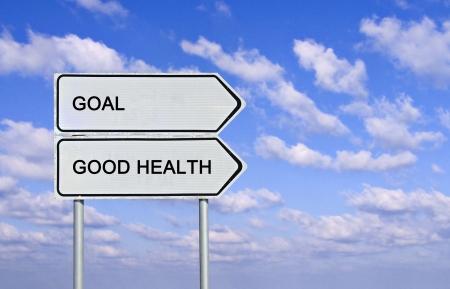 buena salud: Acceder a la buena salud y la meta Foto de archivo
