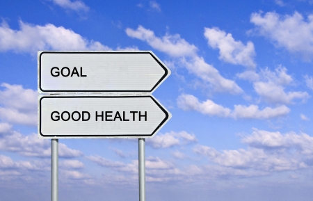 Sign to good health and goal Stock Photo - 15101508