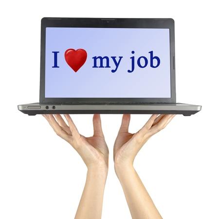 communication occupation: Amo il mio lavoro