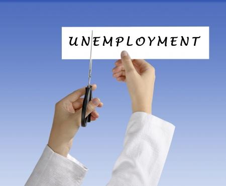 Symbool van de werkloosheid Stockfoto