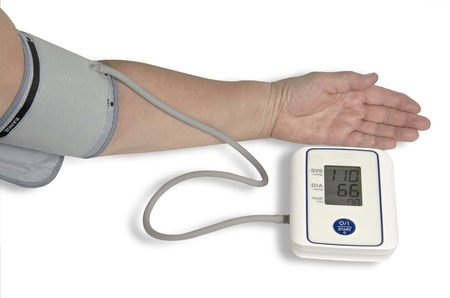 Digital blood pressure meter Stock Photo - 15101504