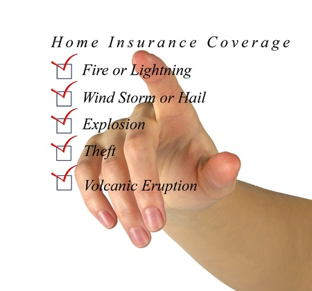 insurance consultant: Home insurance list Stock Photo