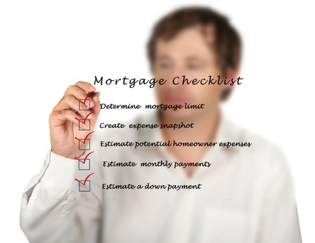 monthly salary: Mortgage checklist