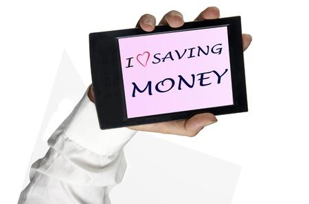 backcground: I love saving money