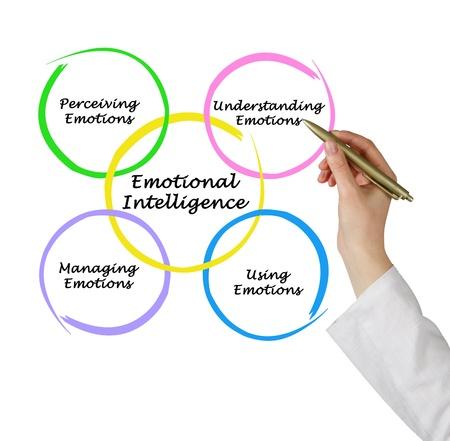 inteligencia: Diagrama de la inteligencia emocional Foto de archivo