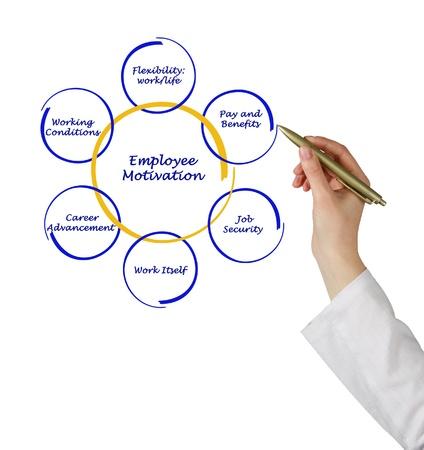 Diagram van de motivatie van werknemers Stockfoto