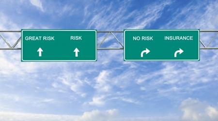risks ahead: Se�al de tr�fico de riesgos y seguros