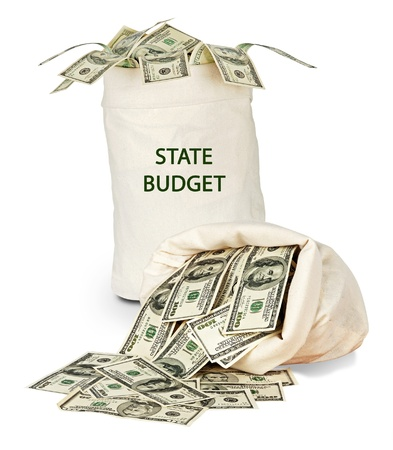Bag with state budget Stock Photo - 15890131