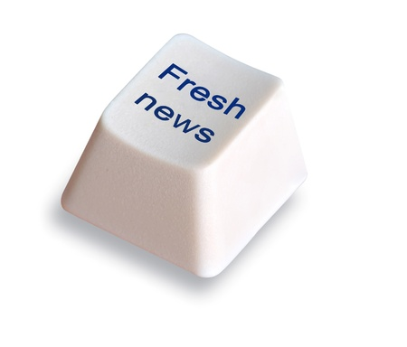 fresh news: Hot key for fresh news Stock Photo