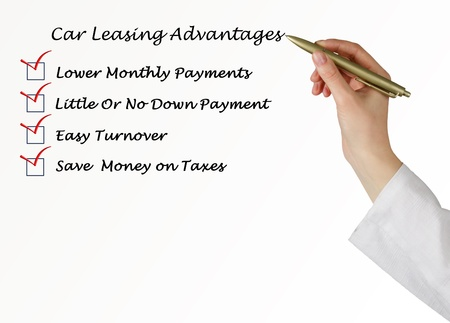 Car leasing advantages checklist photo