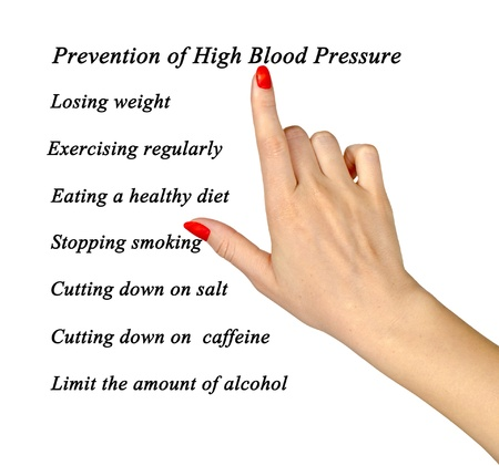 low fat diet: Prevention of high blood pressure Stock Photo