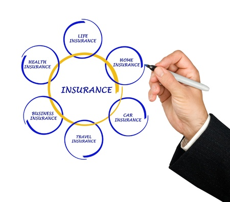 presenting insurance diagram Stock Photo - 16022145