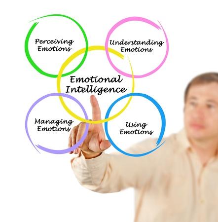 Diagram of emotional intelligence Stock Photo
