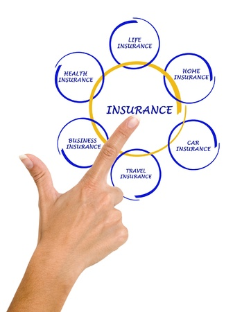 life event: woman presenting insurance diagram