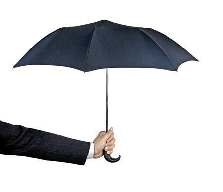 brolly: Umbrella in hand