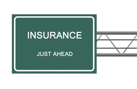 Road sign to insurance photo