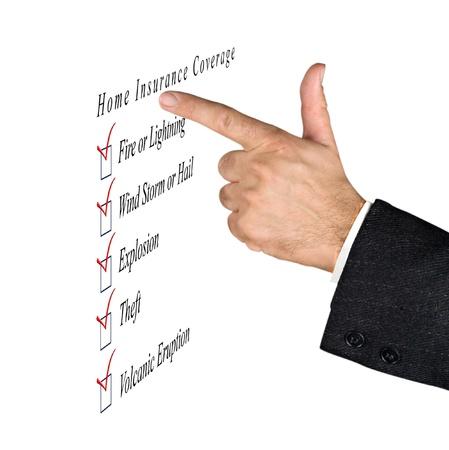 insurer: Home insurance coverage Stock Photo