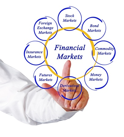 Diagram of financial markets Stock Photo - 16421172