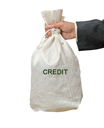 Bag with credit Stock Photo - 16573909