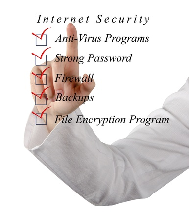 Checklist for internet  security Stock Photo - 16759620