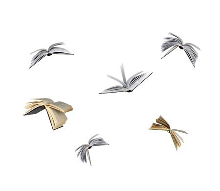 libros volando: Libros vuelo
