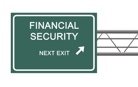 way of living: Road sign to financial security
