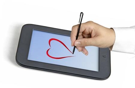 backcground: Drawing heart