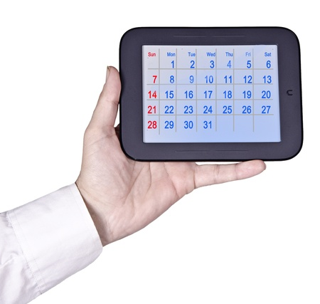 Tablet PC with calendar Stock Photo - 17193073