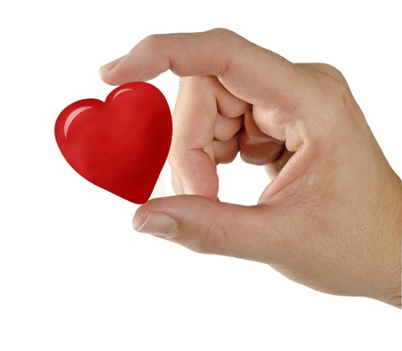Gift of heart Stock Photo