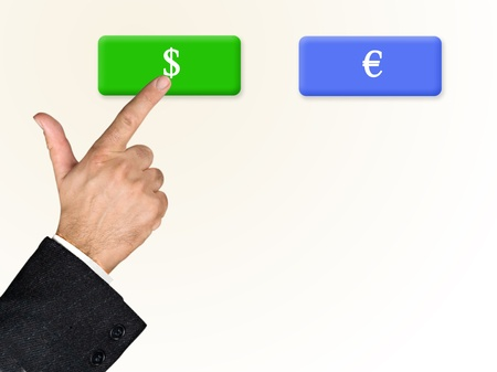 Choise between currencies Stock Photo - 17388483