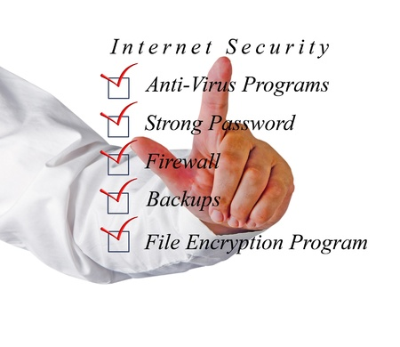 Checklist for internet  security Stock Photo - 17366787