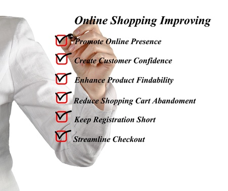 Online shopping improving Stock Photo - 17366755