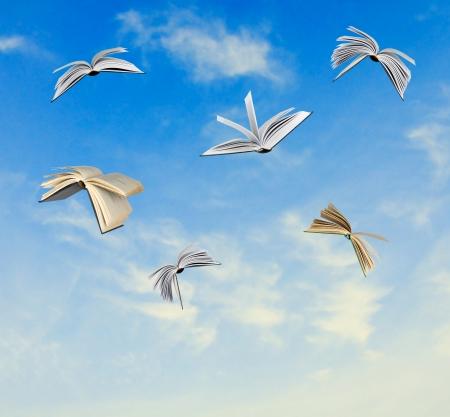 open up: Flying books