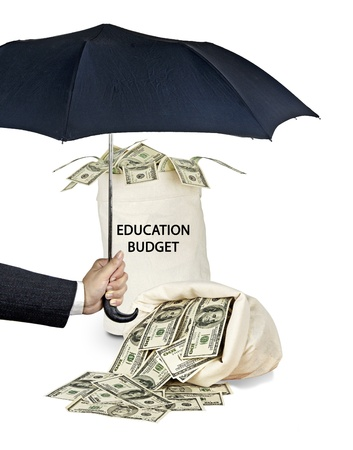 Bag with educational budget Stock Photo - 17366683