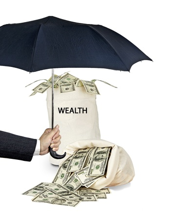 Protection of wealth Stock Photo - 17366685