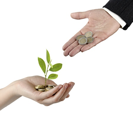 Investing to green business Stock Photo - 17572508