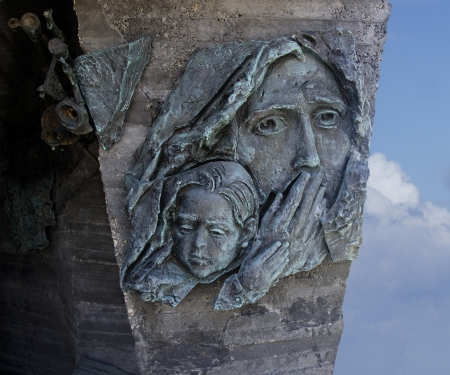 dedicated: Monument dedicated to Soviet troops at Netanya,Israel