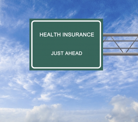 Road sign to health insurance photo